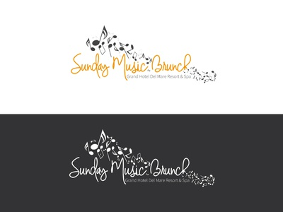 Sunday Music Brunch graphic designer graphic design branding brand logodesign logo
