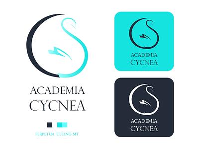Academia Cycnea swan logo design vector logo illustration graphic design identity design communicate brand design brand identity