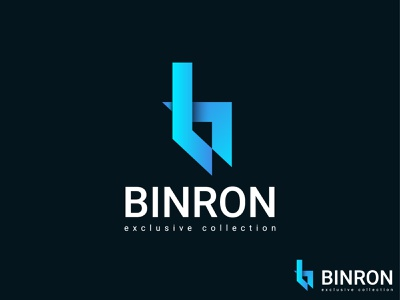 binron logo designs ui logo branding design 2021 modern logo