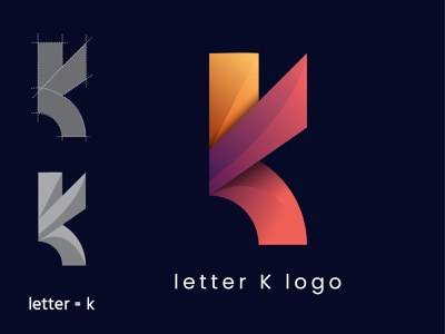letter k logo english ilustrator name logo icon logo idea abstract logo abstract trendy logo brand identity trend gradient letter designs new logo best logo 2021 modern logo logo branding brand design