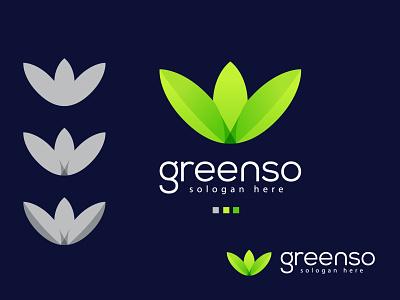 greenso logo gradient color trendy top illustrator green inspiration ui logo idea new logo logo 2021 brand design designs best logo branding modern logo