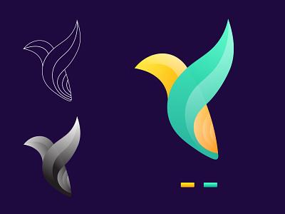 Bird Logo mobile app uiux flat design design gradient logo logos modern trading icon typography best logo logo idea vector ui 2021 illustration branding modern logo