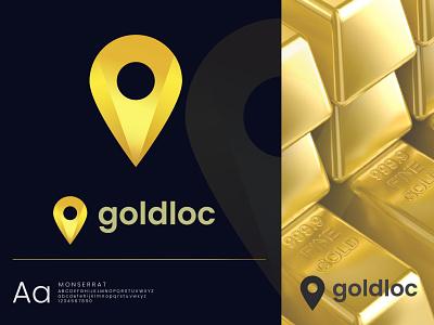 Goldloc Logo colours color palette new uiuxdesign logo brand design branding goldenratio logodesign logotype logo idea app icon typography vector illustration 2021 best logo ui modern logo
