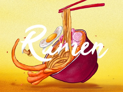 Ramen Illustration ramen food illustration design