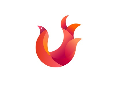 Fire Bird circle tanya pugacheva bird fire logo gradient red