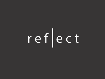 Reflect social font identity reflect typography pugacheva mirror logo letter design mark music