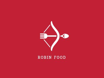 Robin Food good pugacheva robin good restaurant logo cook spoon fork bow arrow food robin