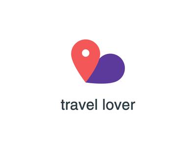 Travel Lover pugacheva journey logo travel pin location heart