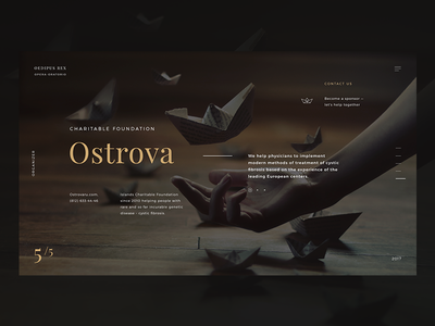 Opera Promo site | About  opera freedom orchestra ship landing paper typography site dark origami gold web