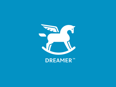 Dreamer grid shapes inspiration blue toy kid dream animal sky pony horse