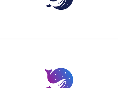 Space whale negative space pugacheva cosmos wisdom deep stars ocean sea logo space whale