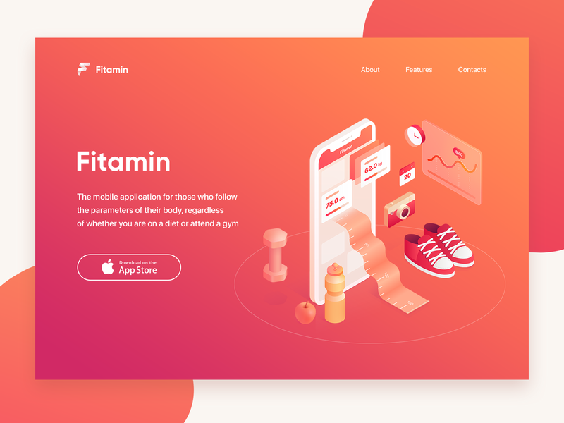 Fitamin app christmas illustration measurements training gym fit diet sport progress graph health ios body f mobile food isometric fitness app fitamin
