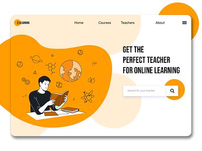 Online Education Website education logo e-learning app e-learning educational education website ios app