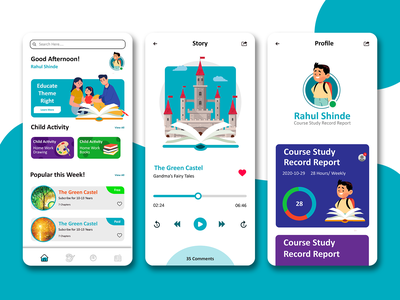 Kids Learning App with Course elearning educational online learning student work learning english learning app kids app