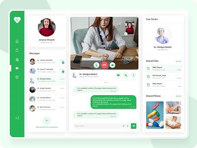 Healthcare Video Consultancy Dashboard uidesign homepagedesign illustration website design webdesign