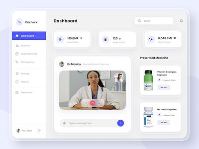 Healthcare Dashboard Design branding uidesign website design webdesign