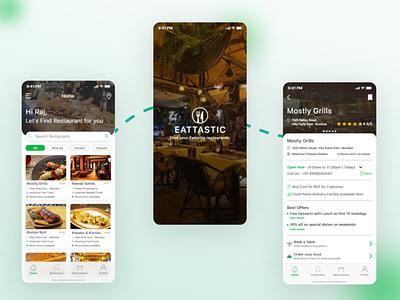 Restaurant Booking App Design branding uidesign design app design