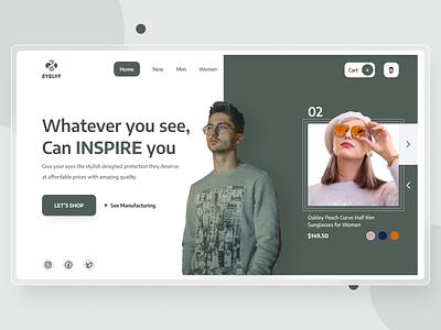 Fashion tech Landing Page Design branding uiux illustration design website design