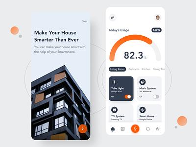 Smart Home App Design branding ui logo uidesign illustration design app design