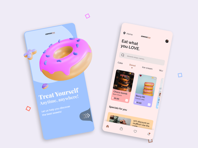 Food App Design branding ui logo uidesign illustration design app design