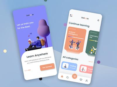 E-learning App Design branding uidesign illustration design app design