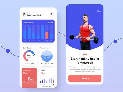 Fitness Mobile App Design branding ui logo uidesign website design app design