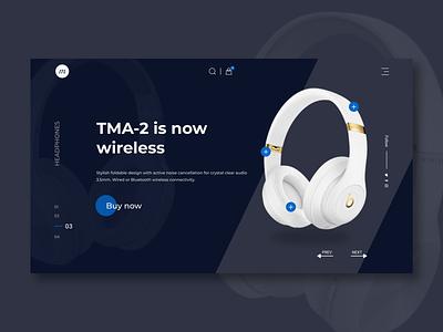 E-commerce Headphone Landing Page Design illustration uiux website design webdesign