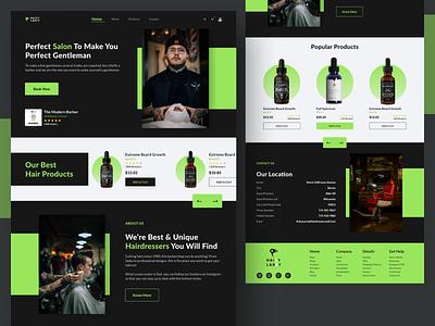 Redesign Webpage of Head Hunter Hairstylists logo uidesign illustration design website design webdesign