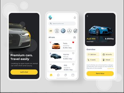 Car Rental App Design branding ui logo uidesign illustration design app design