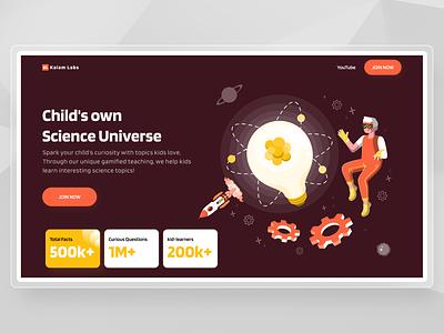 Landing Screen Redesign for Kalam Labs branding logo illustration uiux design website design webdesign