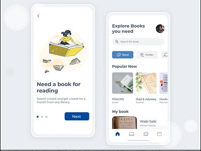 Bookstore App Design branding logo uidesign uiux illustration design app design