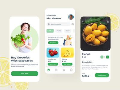 Fruits App Design branding logo uidesign illustration uiux design app design