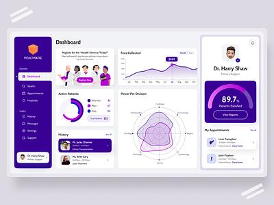 Healthcare Dashboard Design logo uidesign illustration website design webdesign