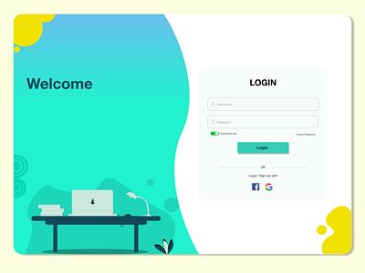 LOGIN Page website ux ui design