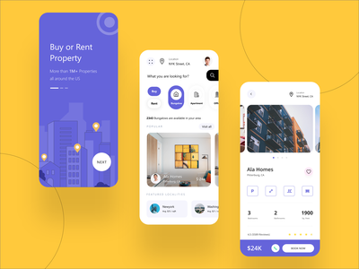 Real Estate Mobile Application Design by MultiQoS real estate web development user experience prototype multiqos property management property search mobile application design mobile app development mobile application ui-ux user experience userinterface flat minimal typography ux ui design