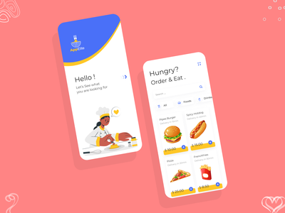 Online Food Delivery App UI/UX Design colors typography food app fooddelivery mobile application development multiqos user experience ui-ux mobile app development mobile application design