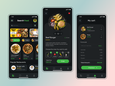 Food Order Application mobile application branding user experience ui-ux multiqos mobile application design typography mobile app development