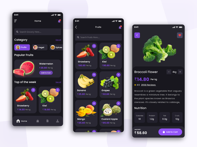 Grocery Delivery App Solution application app design ordering app grocery store grocery online grocery app design ui mobile application design ui-ux user experience mobile app development