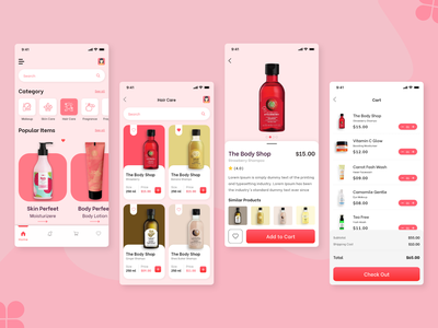 Beauty & Cosmetic Shop App Design mobile application mobile app design web application design web app development web app design web app mobile web app ui design illustration app design mobile application design mobile app development user experience ui-ux beauty products cosmetics cosmetics product beauty product beauty app