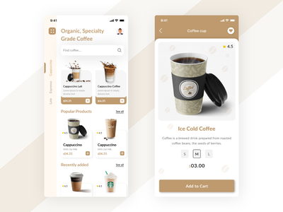 Coffee Shop App mobile application design mobile application ui-ux user experience mobile app development design 5coffee app design 5coffee app design coffee app designs coffee app designs coffee app coffee shop app coffee coffee shop coffeeshop
