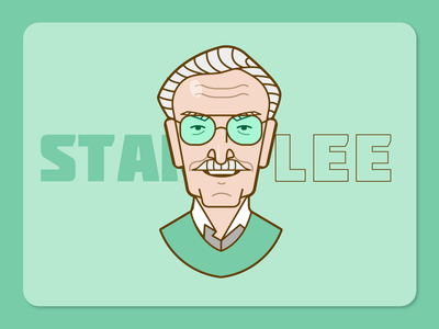 Stanlee stanlee fanart badge identity vector branding minimal logo illustration illustrator flatdesign flat marvelcomics marvel stan lee