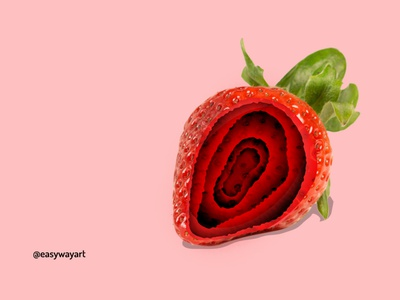 Surreal Strawberry | Photoshop Creative Art photography surreal art surrealism manipulations photo manipulation photo editing photoshop manipulation design