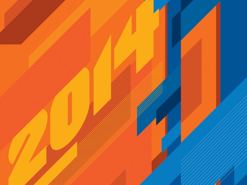 2014 Custom Letterform typography numbers letterforms type
