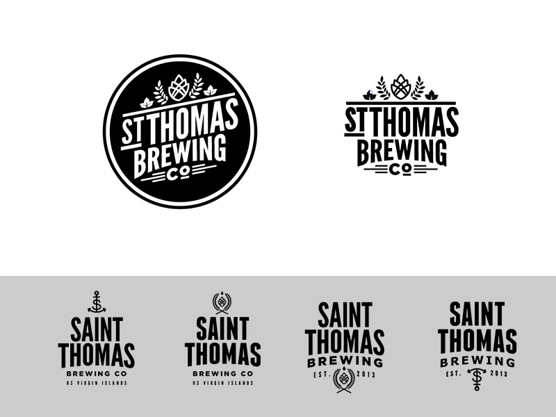 """St. Thomas Brewing Co.""""Crafty Hipster"""" Concept logo craft beer"""