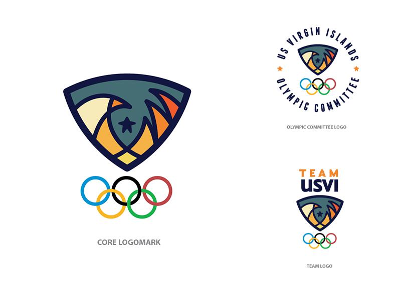 Rejected USVI Olympic Logo olympic logo eagle wave