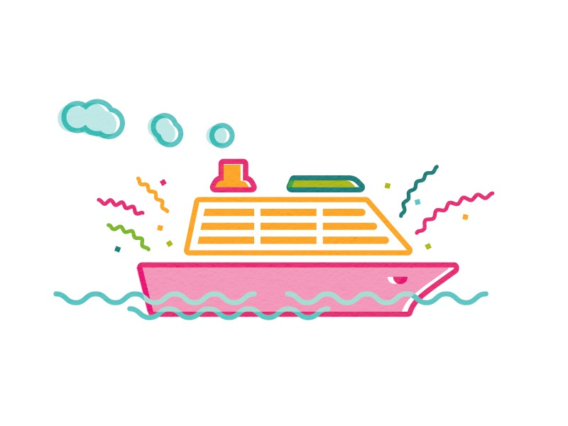 Cruise Ship illustration vessel steam boat cruise ship