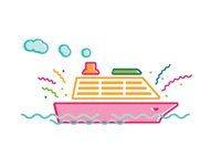 Cruise Ship illustration