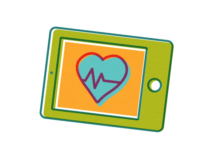 Computer Tablet Graphic technology heartbeat heart tablet