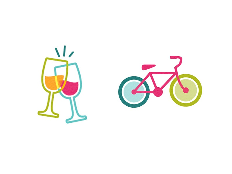 Cheers & Ride cheers bicycle glass wine