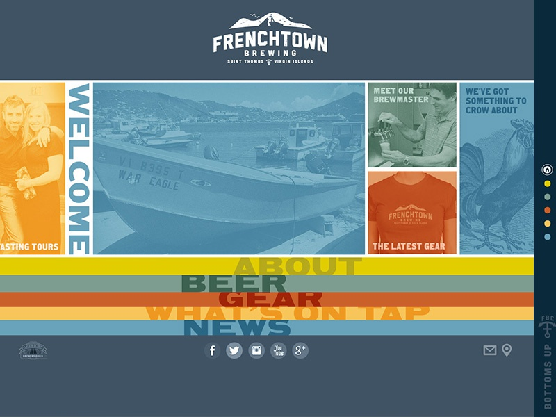 Frenchtown Brewing Website Design ui website beer brewing frenchtown virgin islands